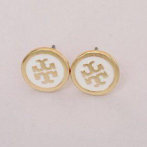 Tory Burch Enamel Glaze Gold-plated Earrings